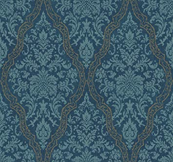Décor Direct YWEE1329 Pinecrest Double Roll of Decorative Hanging Wallpaper Deep Blue - - Amazon.com