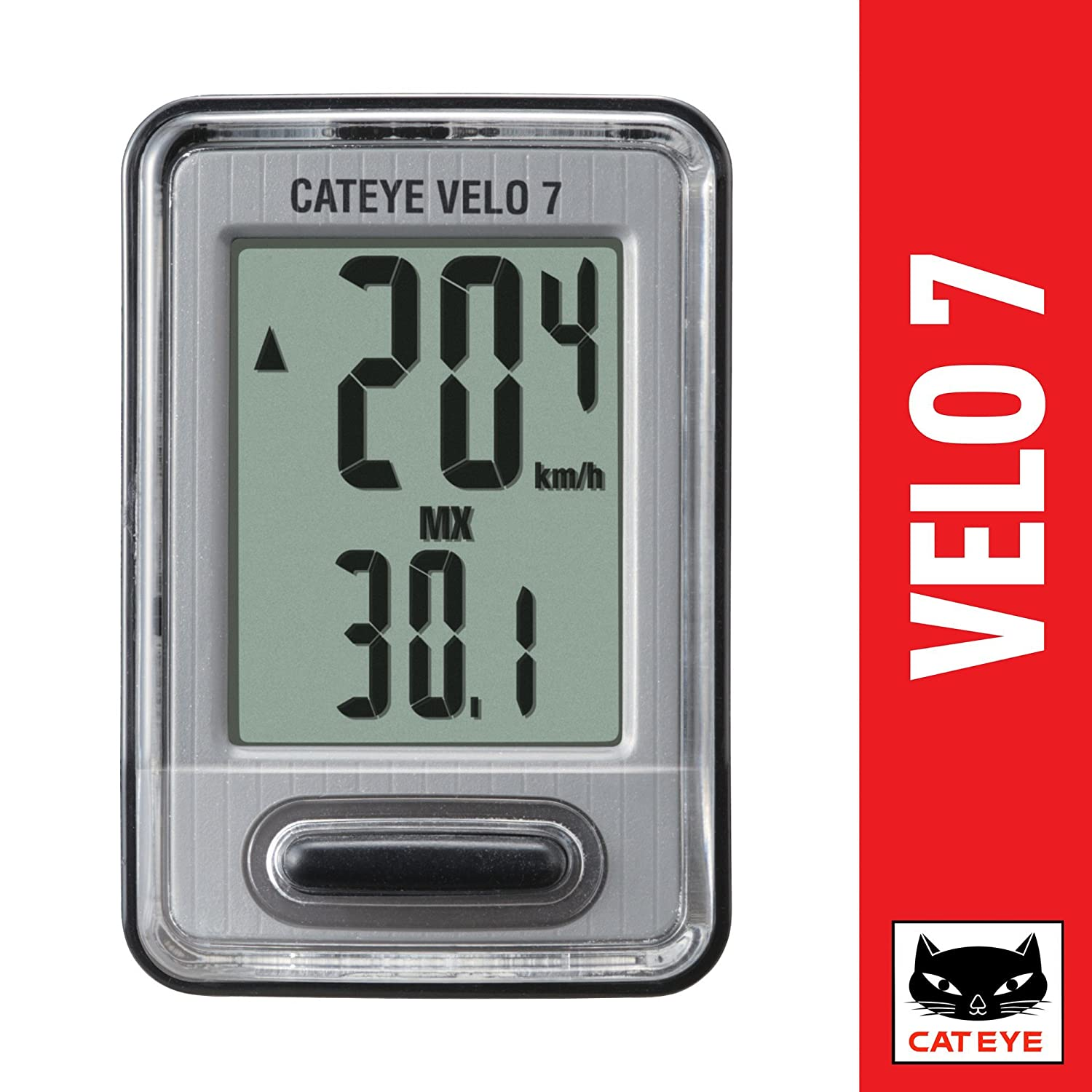 Buy Cateye Velo 7 Bicycle Computer CC-VL520 Online at Low Prices in India -  Amazon.in