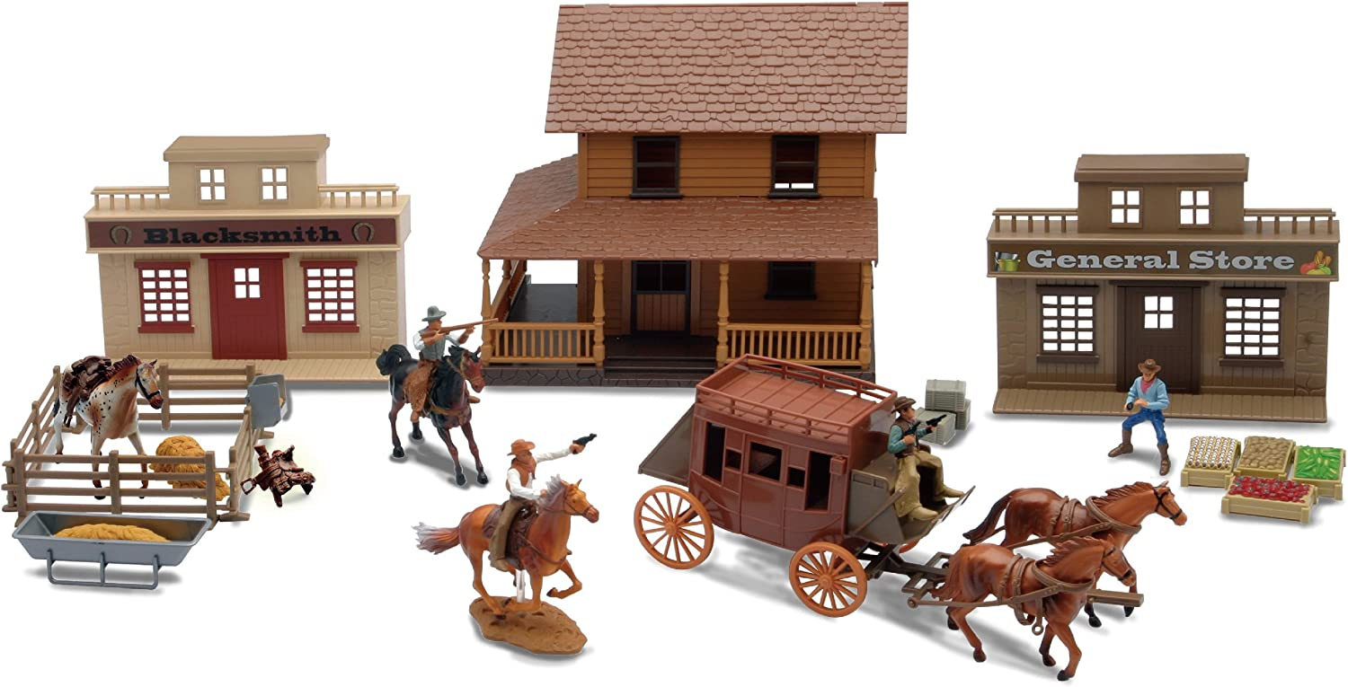 NEW 38 PC TOYS SET HORSE WESTERN HORSE SHOW WESTERN HORSE ACCESSORIES KIDS TOYS