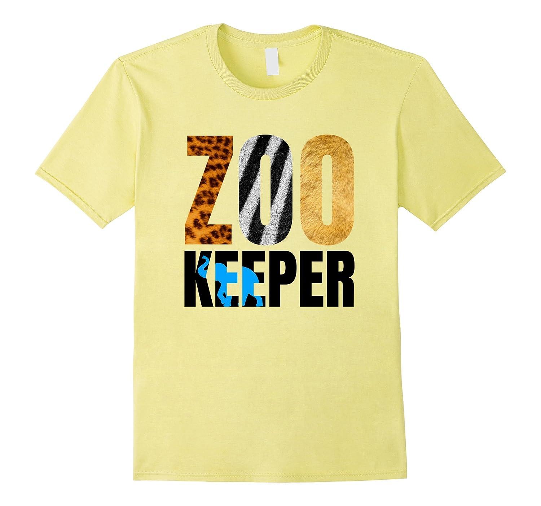 Zoo Keeper T-Shirt. Wild Tiger Lion Zebra. Great for Kids-FL
