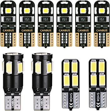 2x Canbus T10 SMD 24 LED Car Interior Bulb Parking Light Bulb White UK