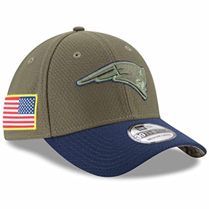 34f9320b54d53 New Era 39Thirty Hat New England Patriots NFL On-field Salute to Service  Cap (