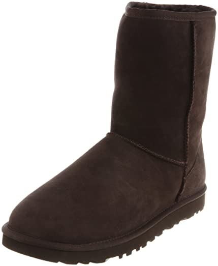 UGG Men's Classic Short Sheepskin Boots, Chocolate, Medium / 7 D(M)