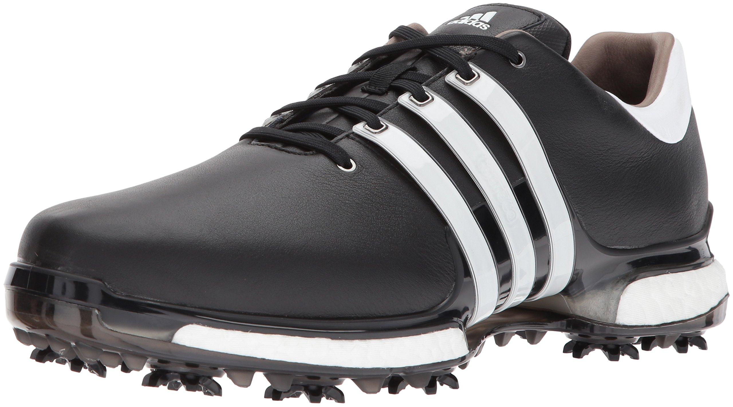 adidas Men's TOUR 360 2.0 Golf Shoe, Core Black/White, 12 M US by adidas