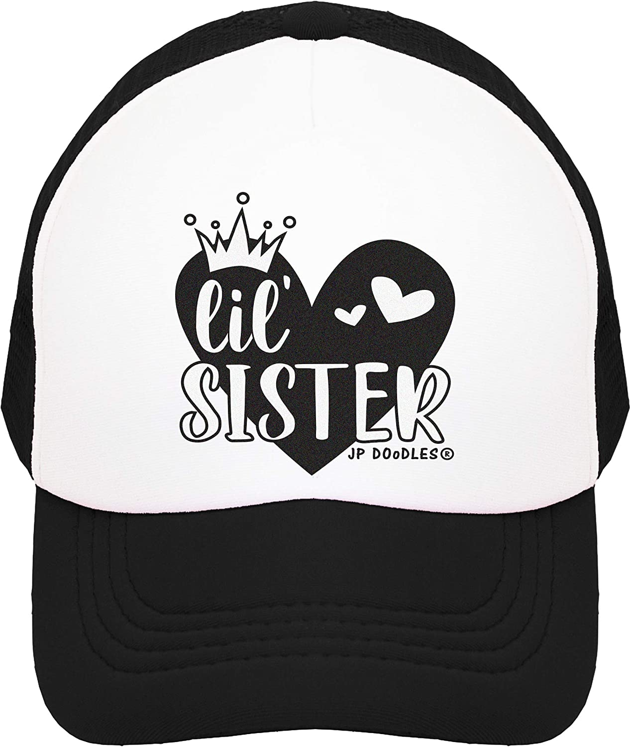 Toddler and Youth Baseball Mesh Back Cap fits Baby Little Sister Kids Trucker Hat