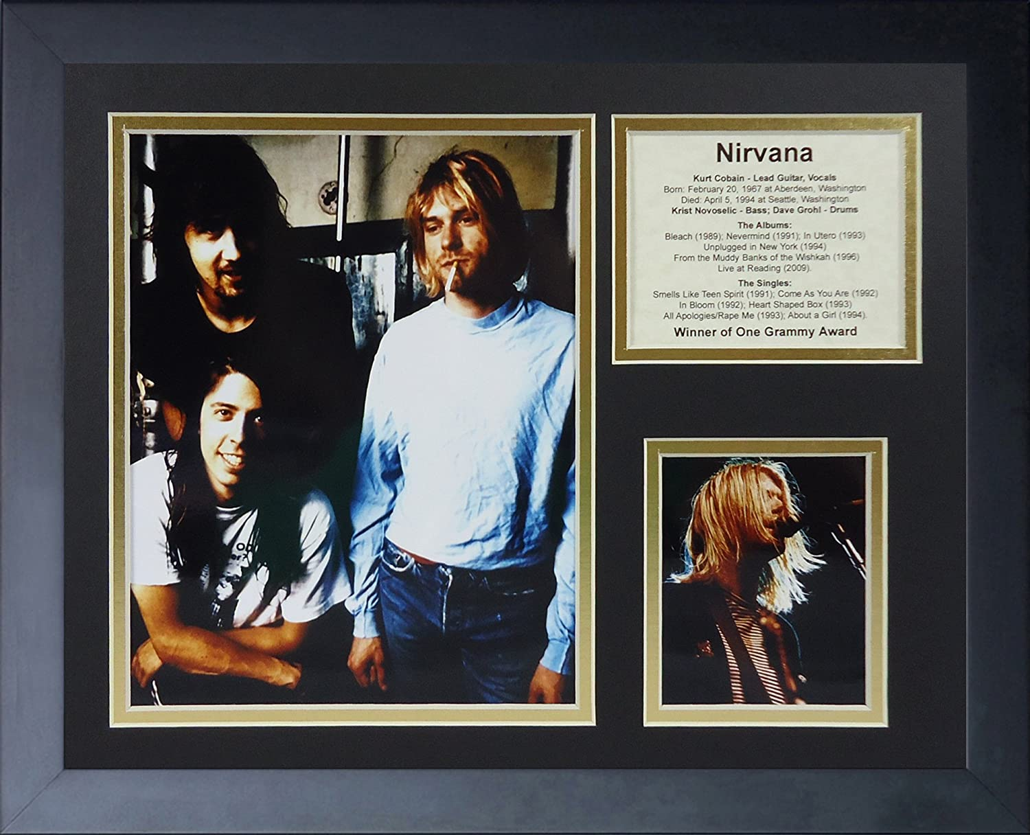 Legends Never Die Nirvana Framed Photo Collage 11x14-Inch