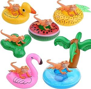 YUYUSO 6 Pack Bearded Dragon Lizard Bathe Float Bathtub Toy Enjoy The Bath Time with Bearded Dragon