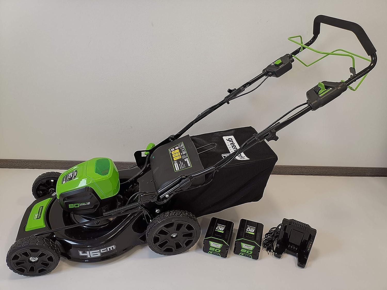 Greenworks Tools 80V acumulador cortacésped 46cm tracción a Las ...