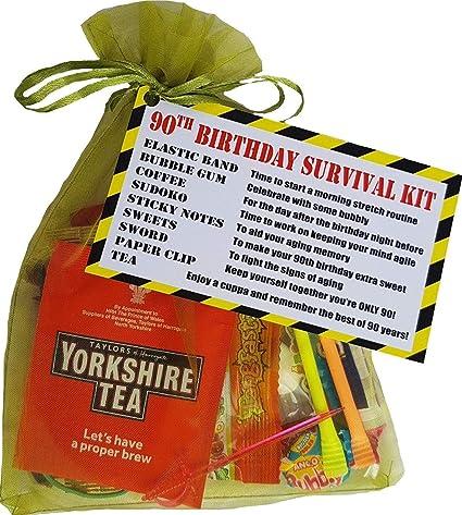 Kit de supervivencia para 90 cumpleaños, un regalo de cumpleaños ...