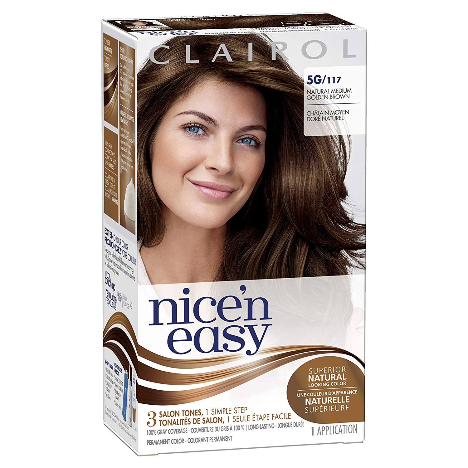 0b342935d Amazon.com: Clairol Nice'N Easy Original 5G Medium Brown (Pack of 3): Beauty