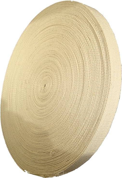 Cinta de algodón de 17 mm, color crema, algodón, crema, 1 m ...