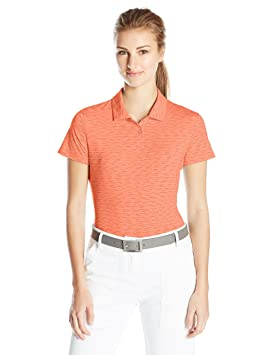PUMA Golf 2017 Womens Space Dye Polo, Fluro Peach, X-Small ...