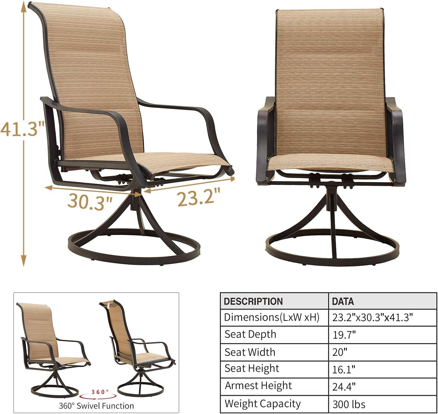 Patio Furniture & Accessories Romayard 2 PCS Bistro Bar Stools ...