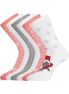 oodji Ultra Mujer Calcetines Navideños de Algodón (Pack de 6)