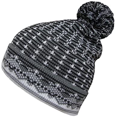 56c92c542b8 Mens Womens Oversized Beanies Winter Wooly Slouch Beanie Hat with Dual  Pattern (Dark Grey)  Amazon.co.uk  Clothing