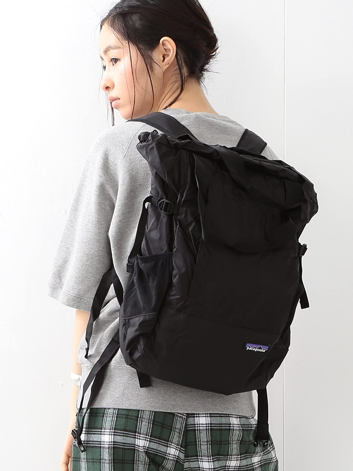 Amazon | (ビームスボーイ) BEAMS BOY Patagonia / Lightweight Travel Tote 15SS 13610276403 19 (BLK/ONE SIZE) | トートバッグ