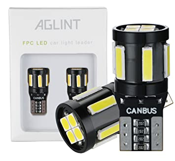 AGLINT T10 W5W LED CANBUS Coche LED Bombillas 6SMD 7020 4SMD 3030 Para Coches Luces De
