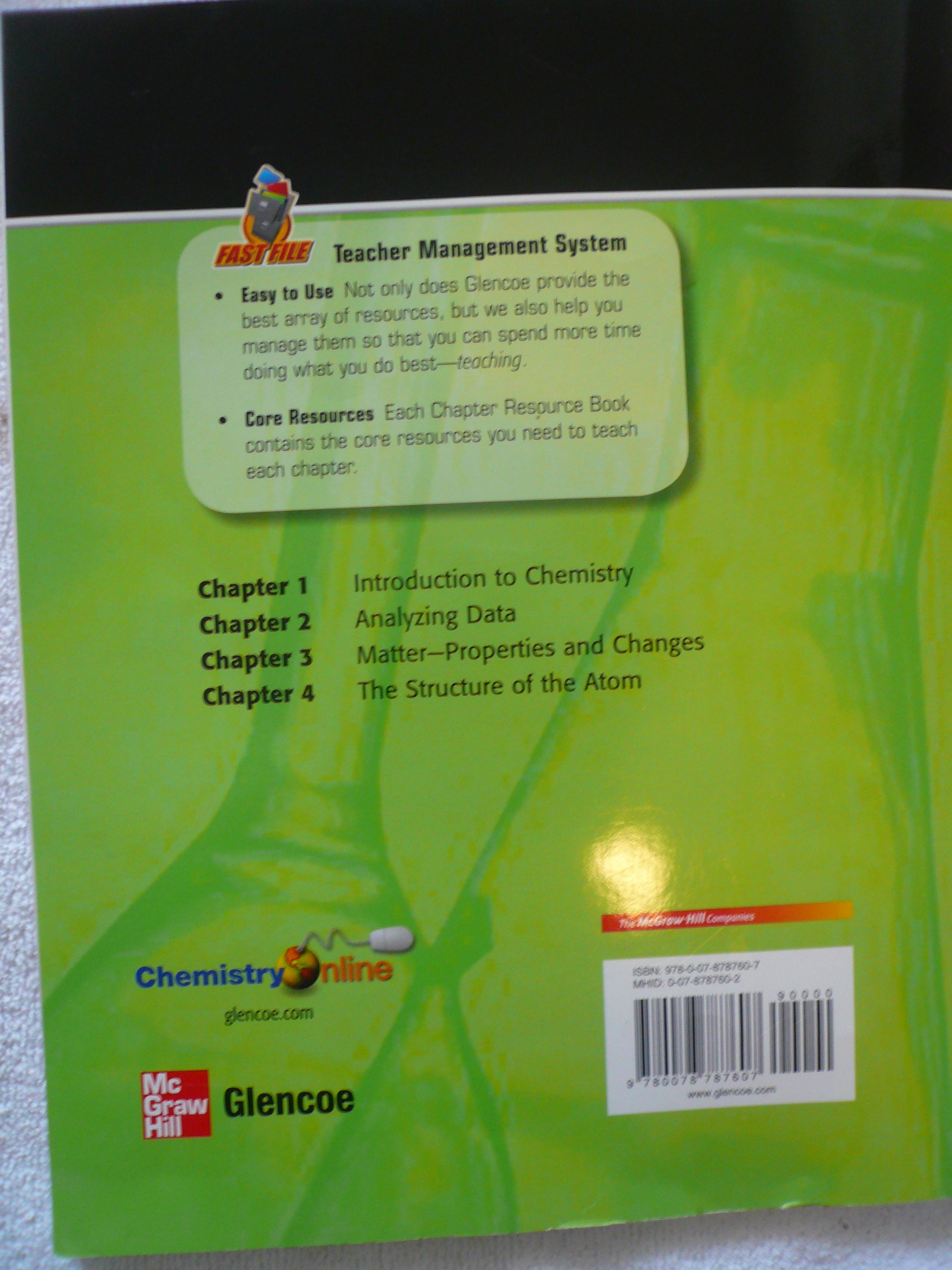 chapters 1 4 resources fast file glencoe science chemistry matter