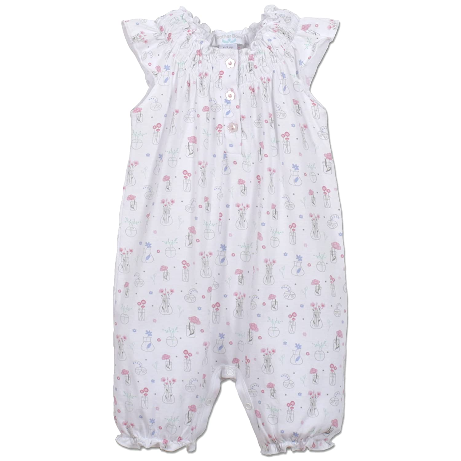 Amazon Com Feather Baby Girls Clothes Pima Cotton Angel Sleeve One