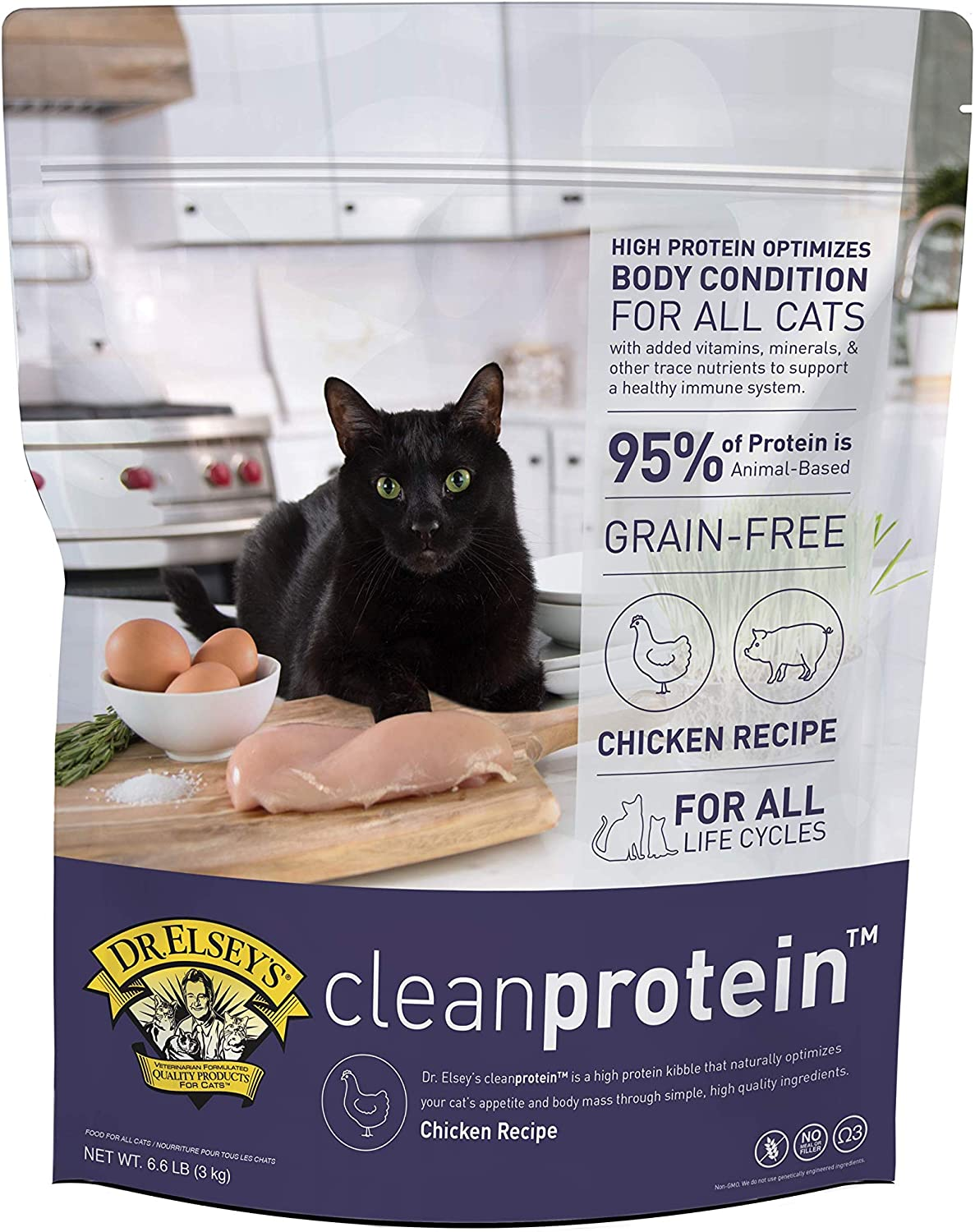 Dr. Elsey's Cleanprotein Formula Dry Cat Food without fillers