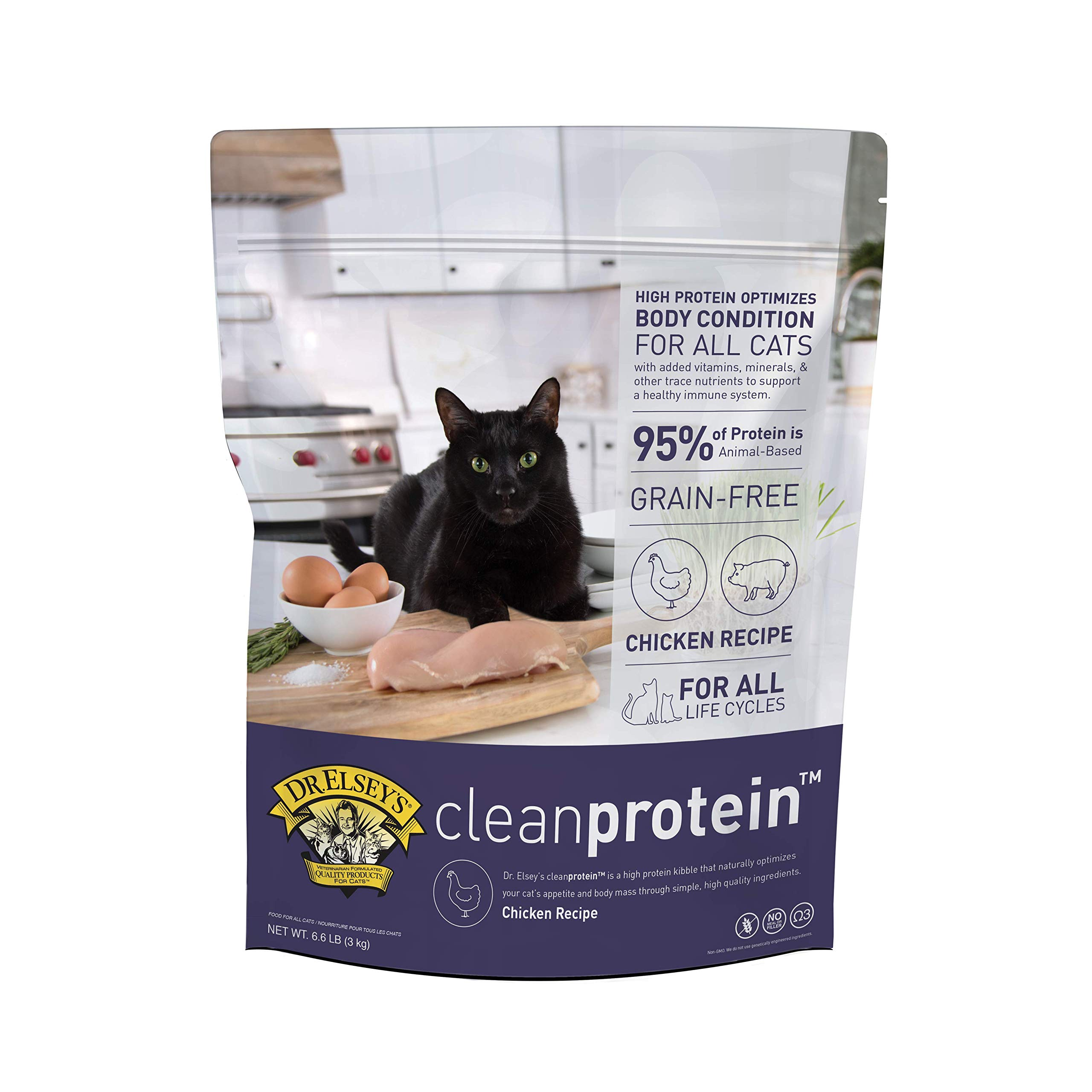 Dr. Elsey's Cleanprotein Chicken Formula Dry Cat Food, 6.6 Lb by Dr. Elsey's