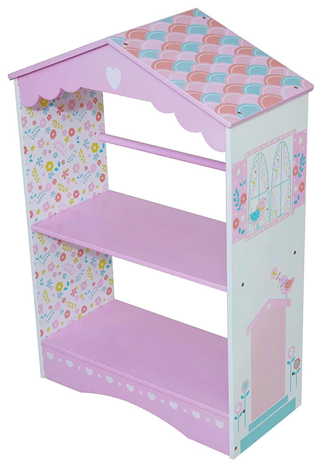 Kidsaw Country Cottage Bibliothèque, 28 x 28 x 61 x 90 cm, Multicolore CCBK