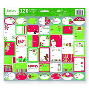 amazon com pack of 120 self adhesive christmas gift tags labels 3