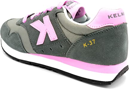 Kelme K-37 Grafito/Rosa - Zapatilla Retro Running (35): Amazon.es ...