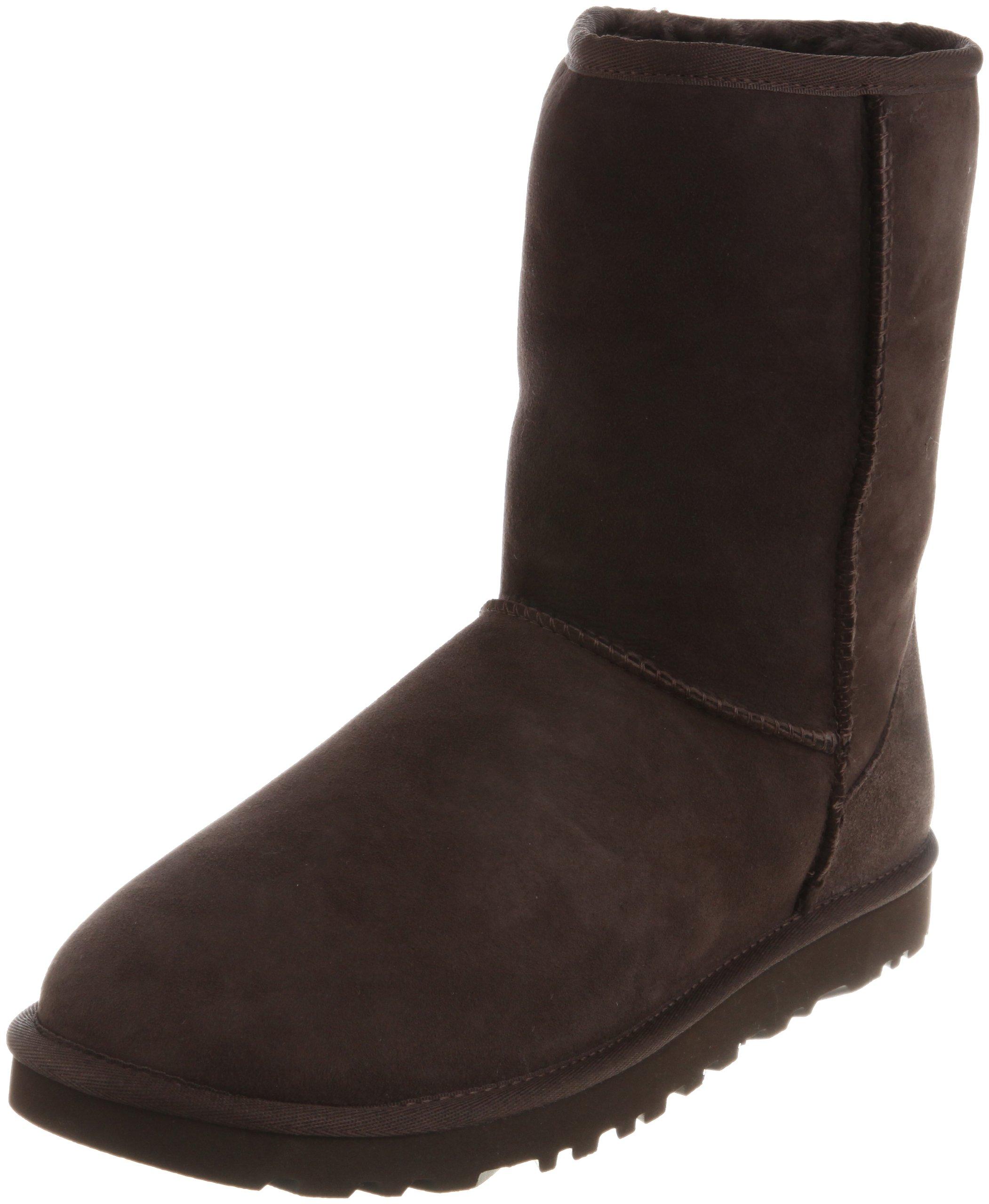 UGG Men's Classic Short Sheepskin Boots, Chocolate, Medium / 7 D(M) US