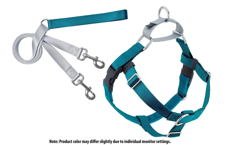 2 Hounds Design Freedom No-Pull Hund Harness mit Leash, Medium