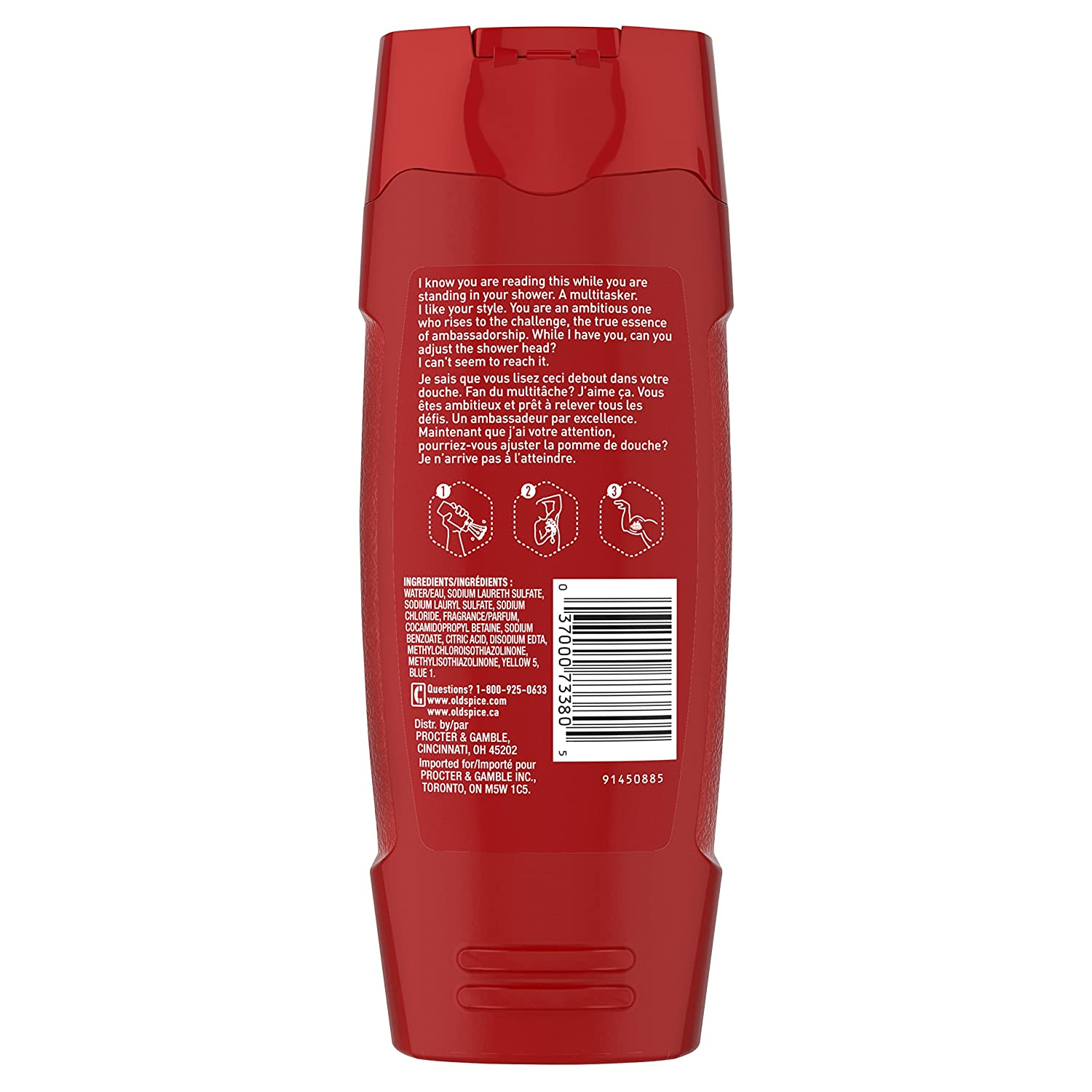 Old Spice Red Collection Ambassador Scent Body Wash for Men, 16.0 Fluid Ounce Pack of 6