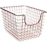 Spectrum Diversified Scoop Storage Basket, Small, Copper