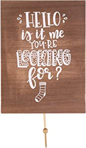 "Farmhouse Wall Art Room Decor - Rustic Decorative Sign (8"" X 6"" Hello Is it me You're Looking For?, Laundry)"