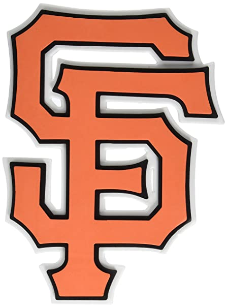 amazon com foam fanatics san francisco giants foam logo sign home rh amazon com sf giants logo clip art sf giants logo stencil