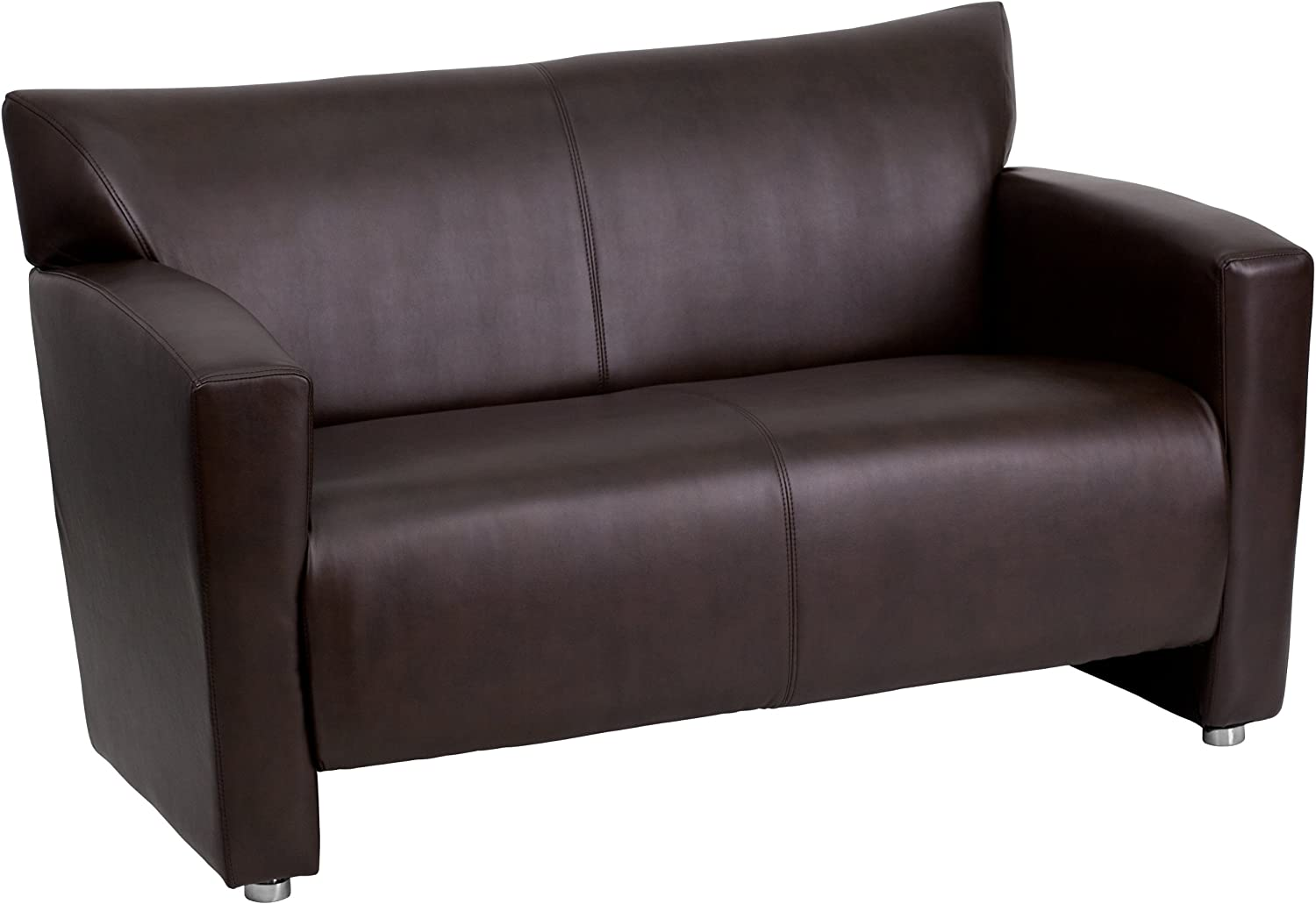Flash Furniture HERCULES Majesty Series Brown LeatherSoft Loveseat