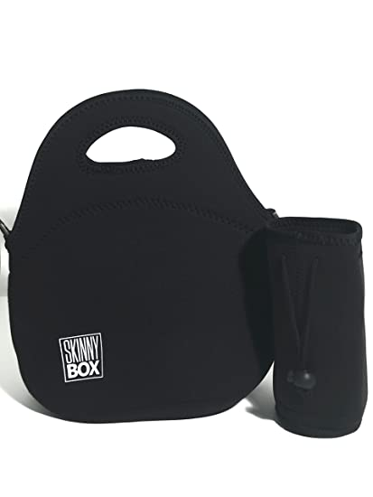 Amazon.com  Black Neoprene Lunch Bag  Insulated Lunch Tote for Men ... 934806211a956
