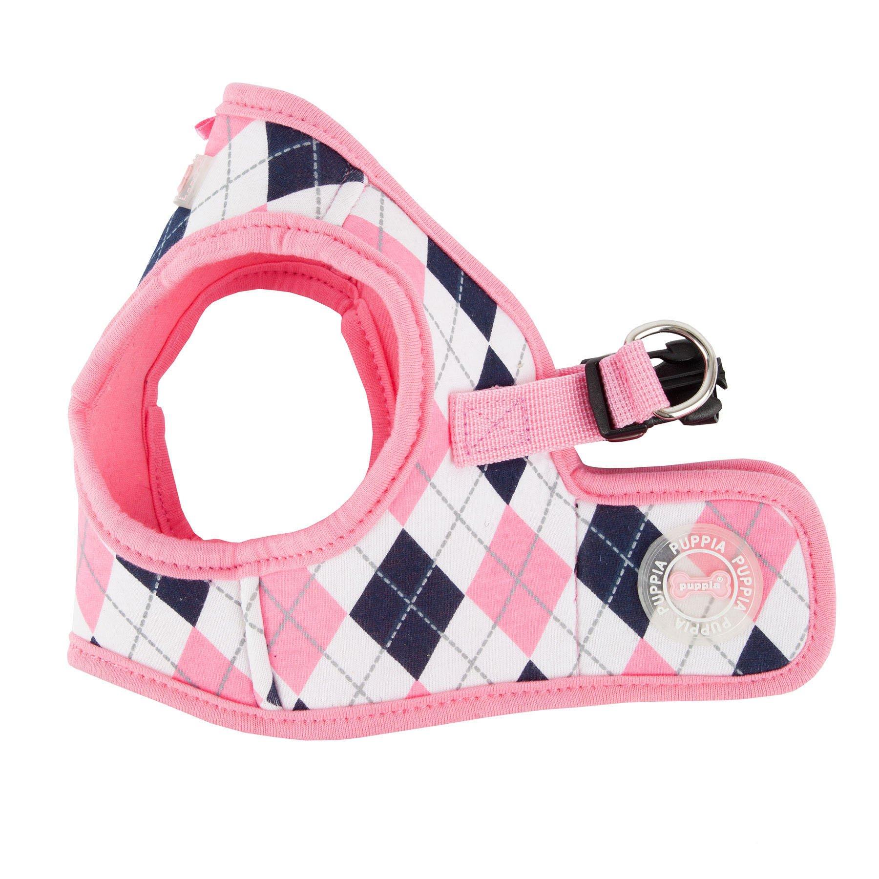 Puppia Authentic Argyle Harness B, X-Large, Pink