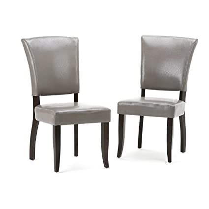 Super Simpli Home Axcdchr 001 Tp Joseph Contemporary Deluxe Dining Chair Set Of 2 In Taupe Faux Leather Theyellowbook Wood Chair Design Ideas Theyellowbookinfo