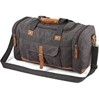 Plambag Canvas Luggage Duffel Bag Travel Tote Shoulder Bag(Grey)