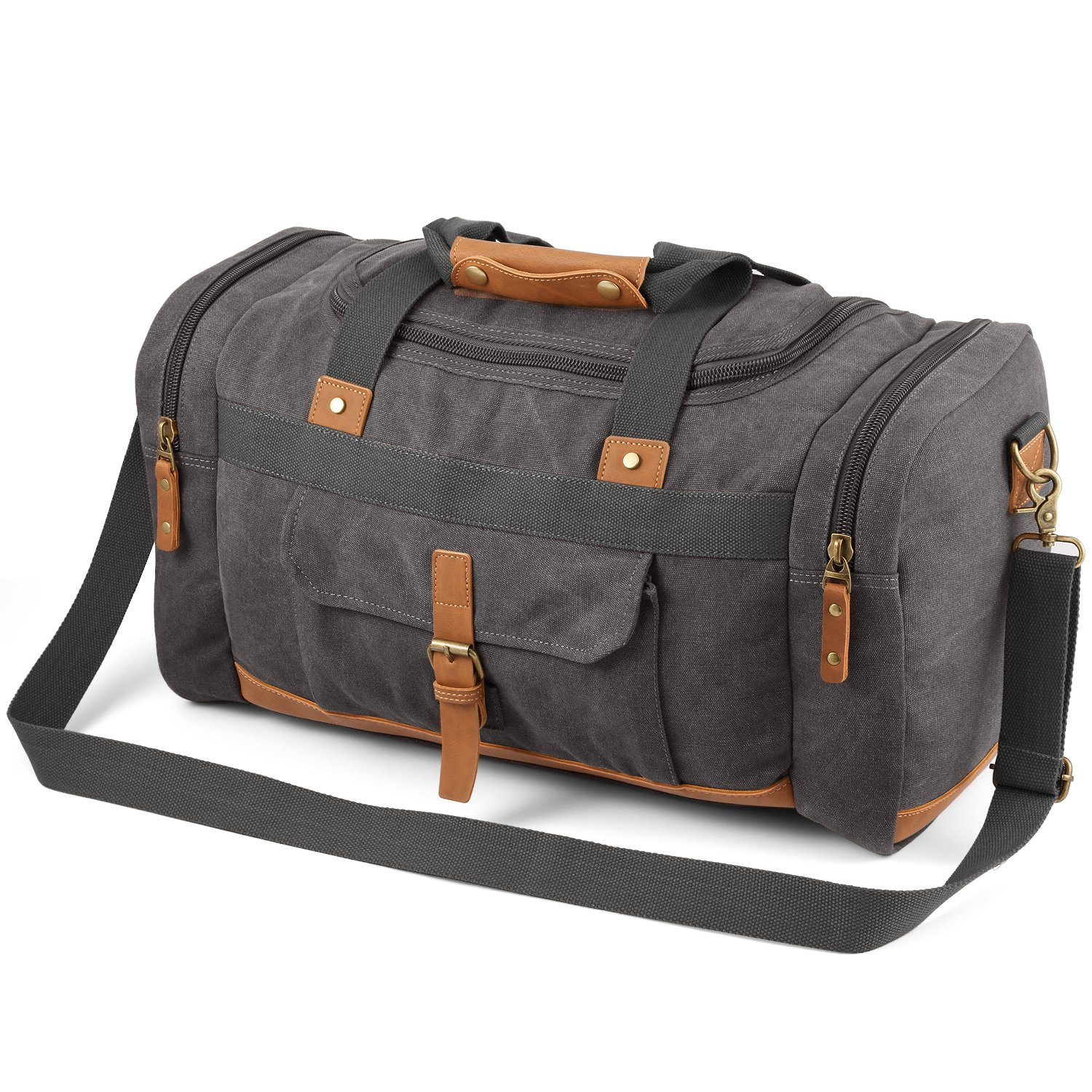 Plambag 50L Canvas Luggage Duffel Bag Travel Tote Shoulder Bag PB085CE