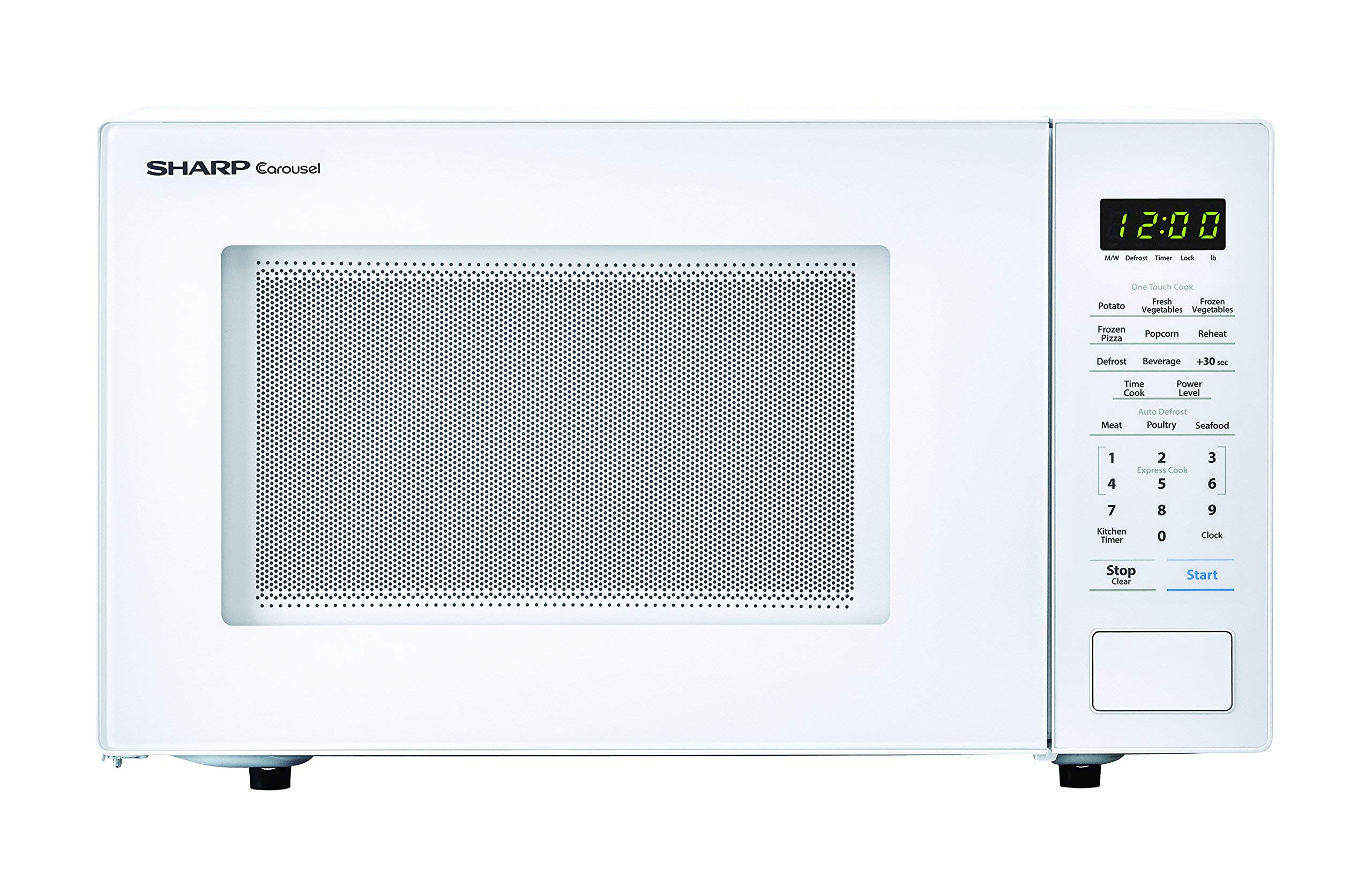 SHARP ZSMC1131CW Carousel 1.1 Cu. Ft. 1000W Countertop Microwave Oven in White (ISTA 6 Packaging), Cubic Foot, 1000 Watts (Renewed)