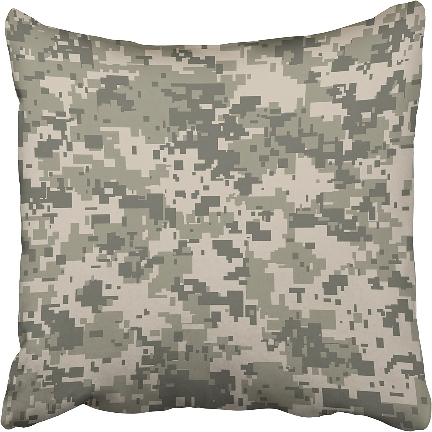 Amazon Com Emvency Decorative Throw Pillow Covers Cases Gray Camo Digital Pixel Camouflage Your Design Khaki Army Camoflauge Camoflage Digicam Military 16x16 Inches Pillowcases Case Cover Cushion Two Sided Home Kitchen