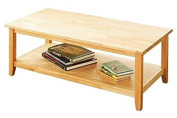 Rubberwood Coffee Table.Premier Housewares Coffee Table Natural Rubberwood 43 X 110 X 55 Cm