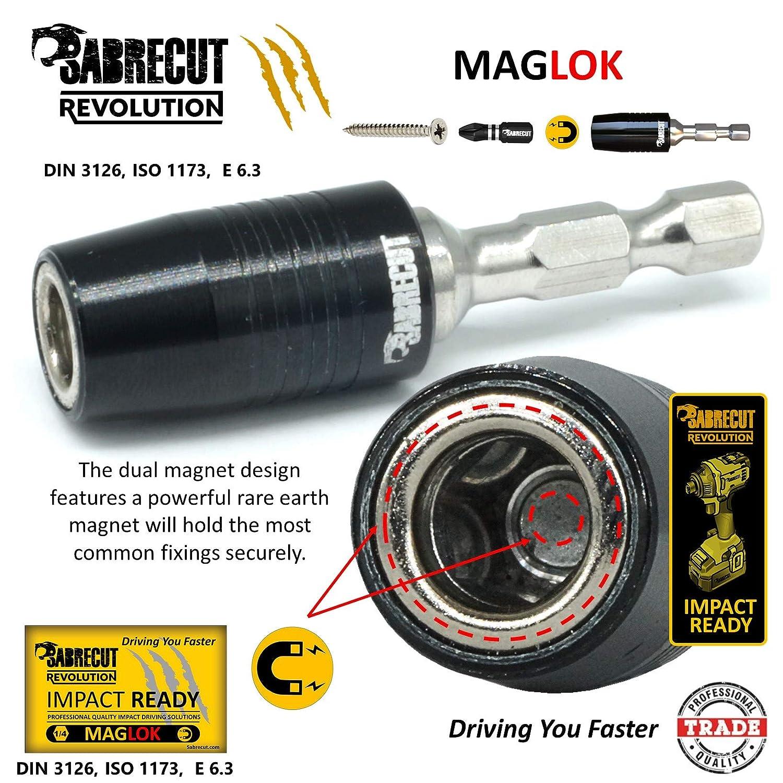 Bosch e altri Makita 6/Piece Sabrecut SCRK4/60/mm professionale impatto portainserti magnetico con 5/x 25/mm impatto bit per DeWalt Milwaukee