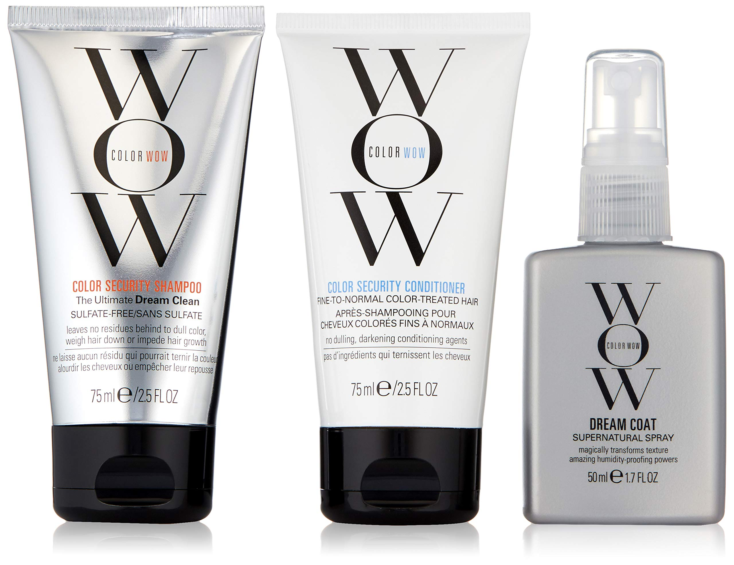 COLOR WOW Dream Smooth Minis, Travel Kit Includes Shampoo, Conditioner and Dream Coat, 2.5 Fl. Oz. by COLOR WOW