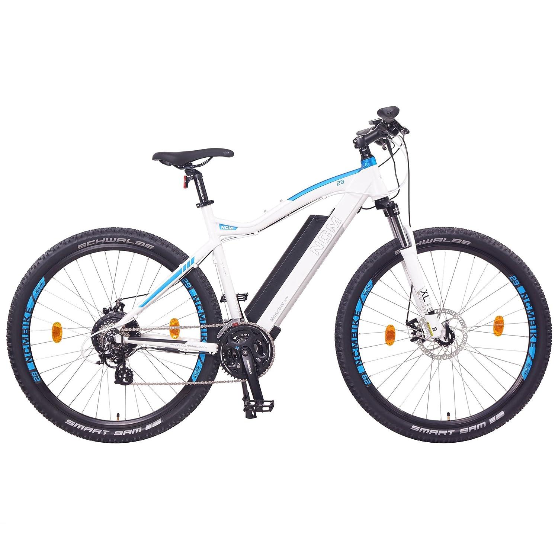 NCM Moscow Bicicleta eléctrica de montaña, 250W, Batería 48V 13Ah 624Wh (Blanco 29