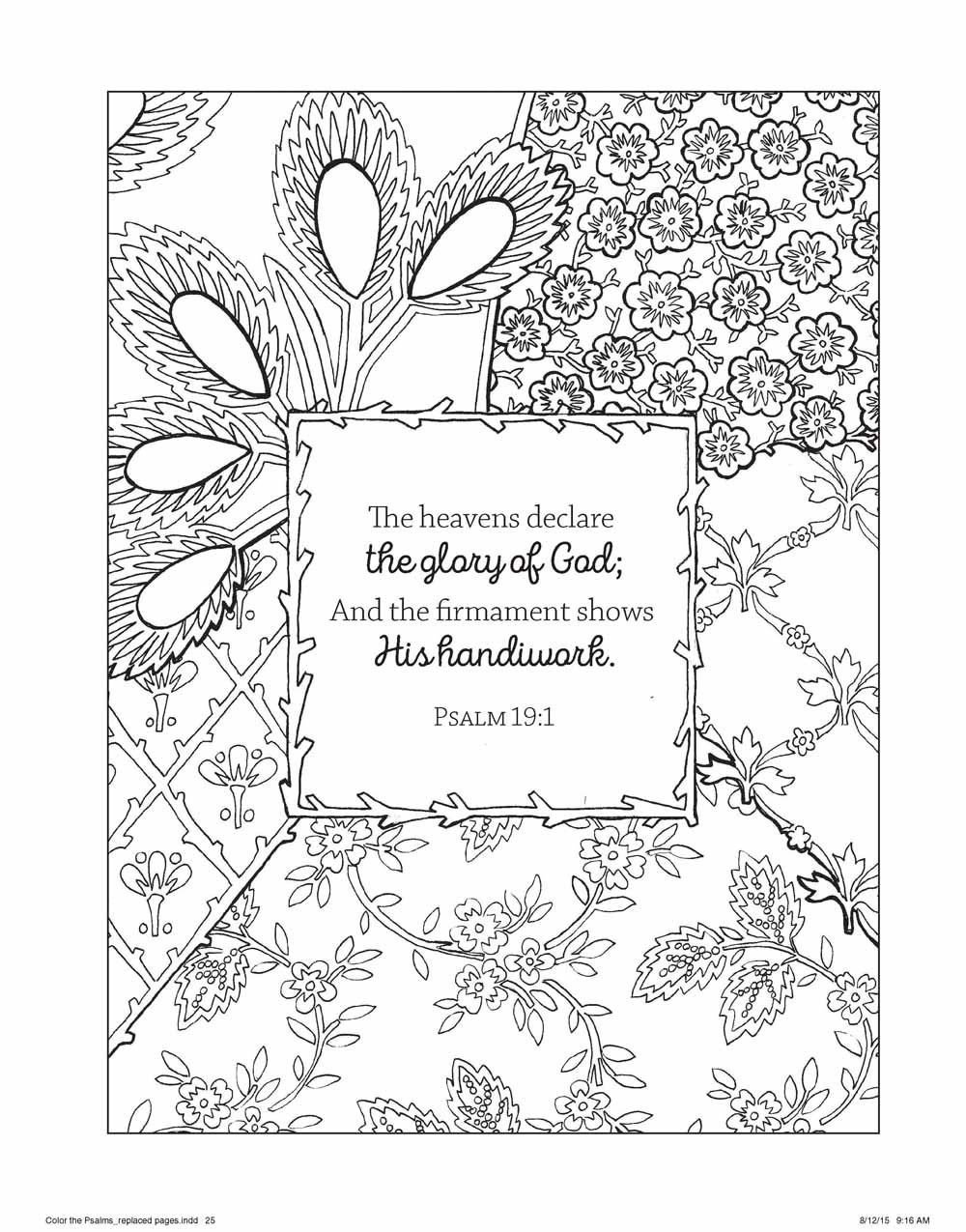 amazon com color the psalms an coloring book for your soul