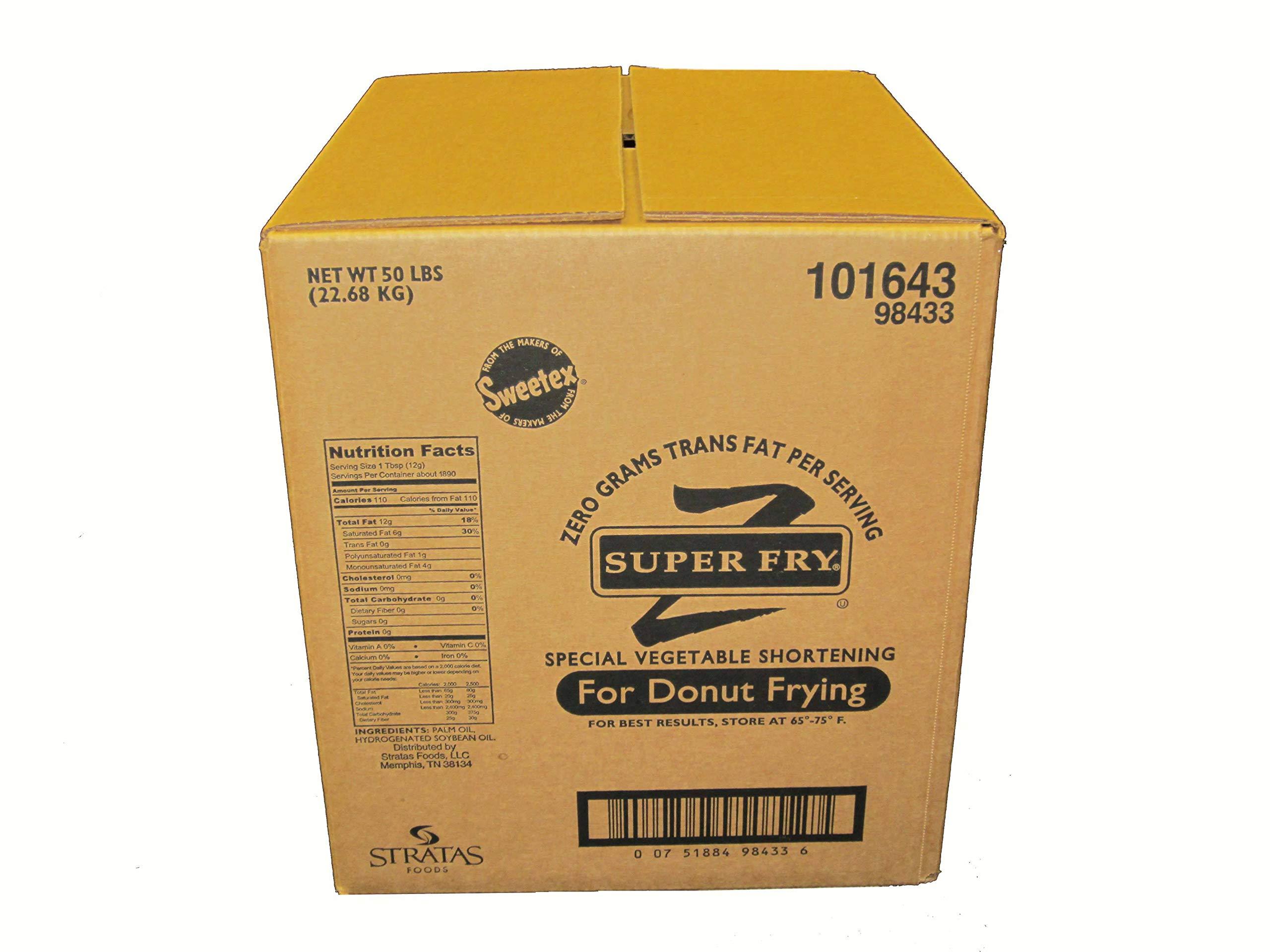 Stratas Foods Super Fry Zero Trans Fat Shortening, 50 Pound -- 1 each.