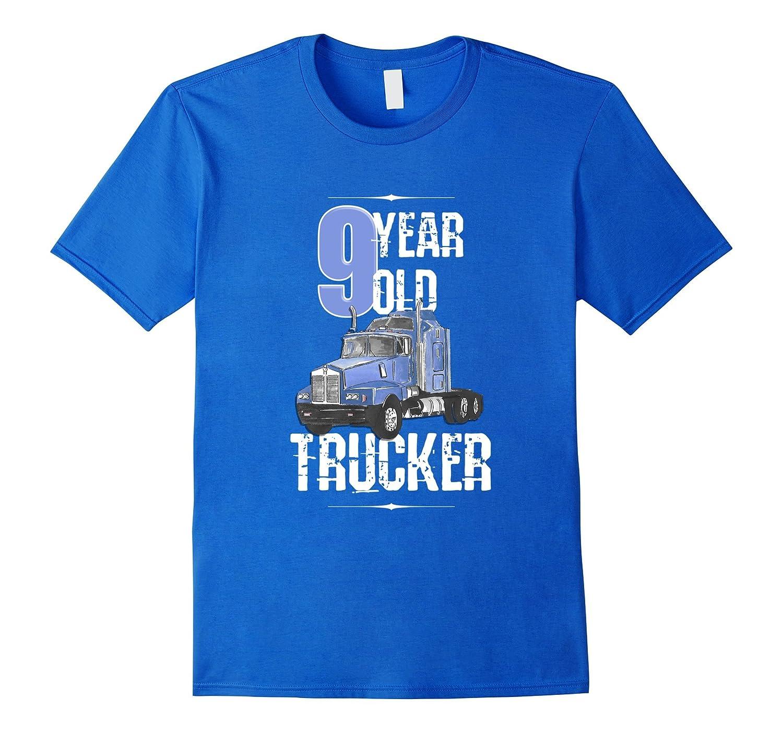 Birthday Shirt Boy 9 Year Old Kids Toddler Trucker T PL