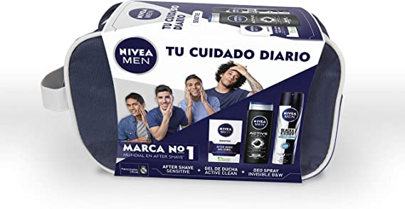 NIVEA MEN Sensitive, neceser con set de baño, caja de regalo con ...